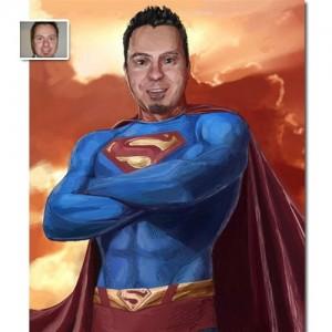 Tableau personnalisé peint Superman